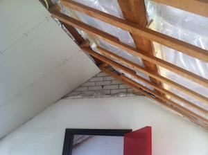 isolatie aan binnenzijde dak